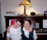 Daniel and Clara -- piano students