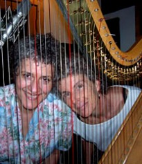 "In studio with Elise Witt recording my song ""Singing in my Sleep"" for her album"