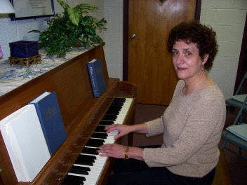Susan at the piano